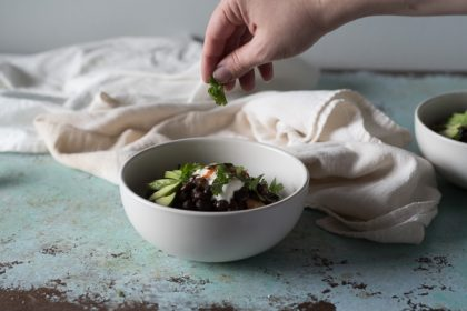 Black Beans and Rice Bowl. Blossom to Stem | www.blossomtostem.net