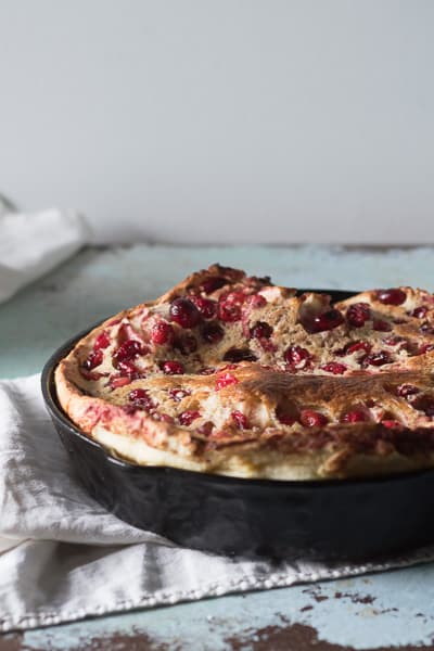 Five Spice Cranberry Dutch Baby. Blossom to Stem | Because Delicious | www.blossomtostem.net