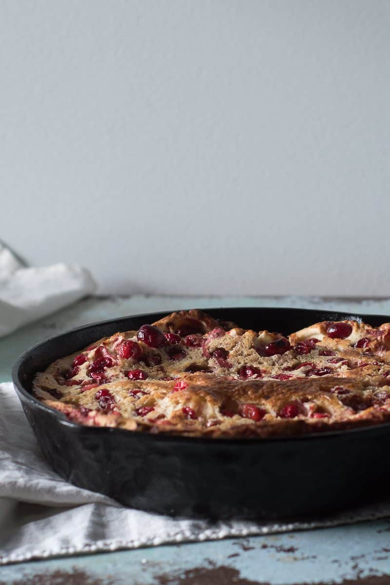 Five Spice Cranberry Dutch Baby