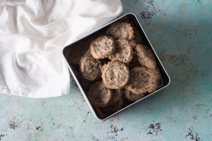 Nibby Buckwheat Cookies, crisp and buttery
