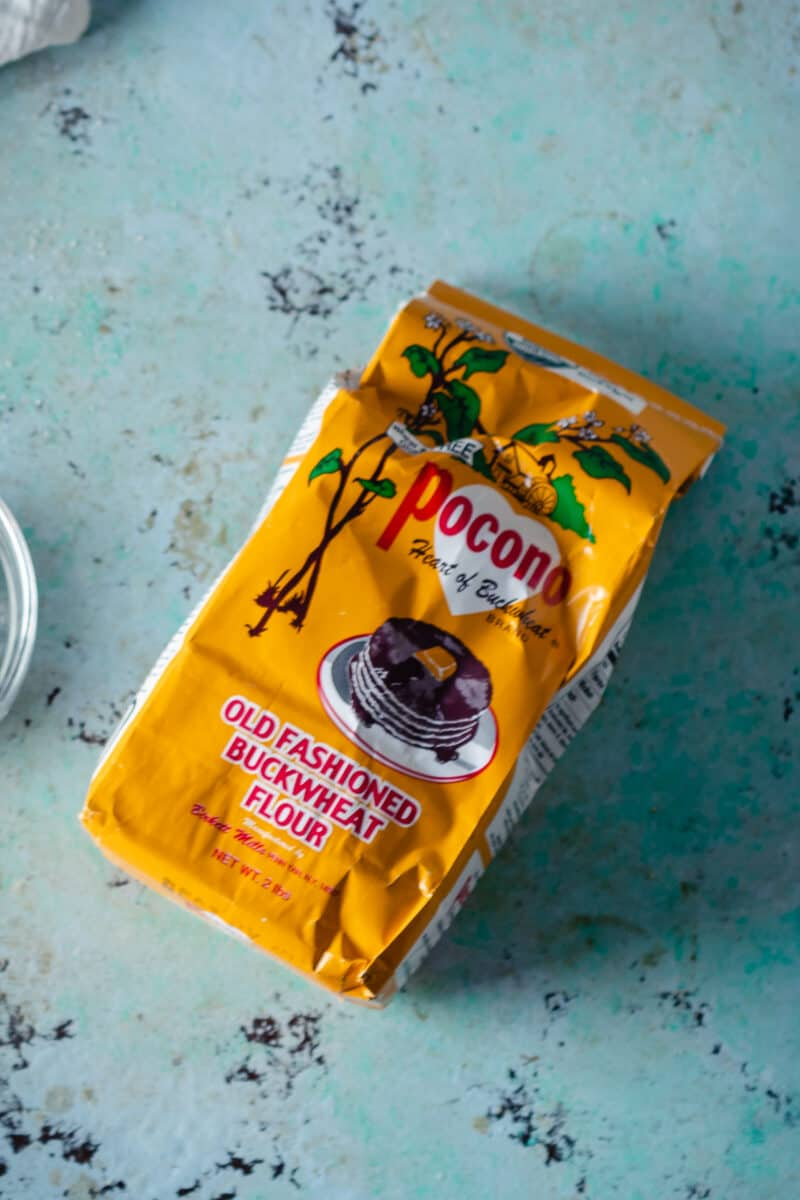 Buckwheat flour in a floursack