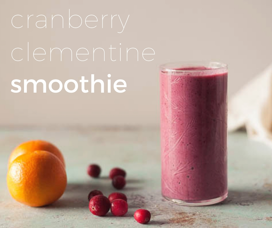 Cranberry Clementine Smoothie From Blossom to Stem www.blossomtostem.net