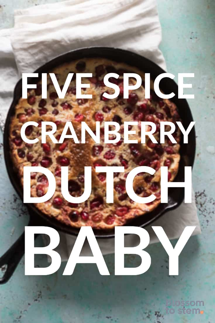 Five Spice Cranberry Dutch Baby