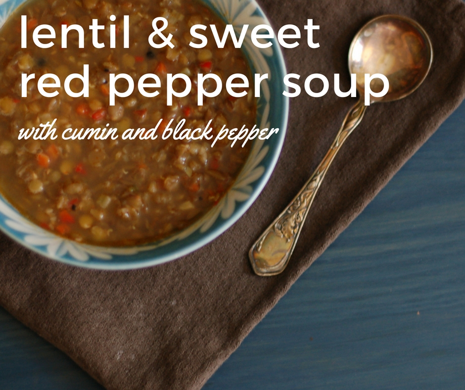 Lentil and Sweet Red Pepper Soup with Cumin and Black Pepper From Blossom to Stem www.blossomtostem.net