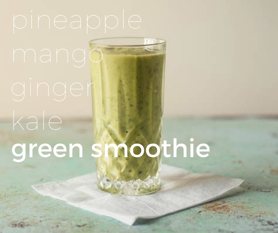 Pineapple Mango Ginger Green Smoothie From Blossom to Stem www.blossomtostem.net