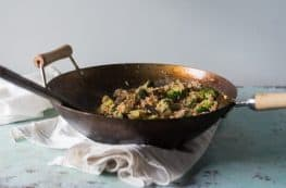 Kimchi Fried Rice with Broccoli and Mushrooms. From Blossom to Stem | www.blossomtostem.net