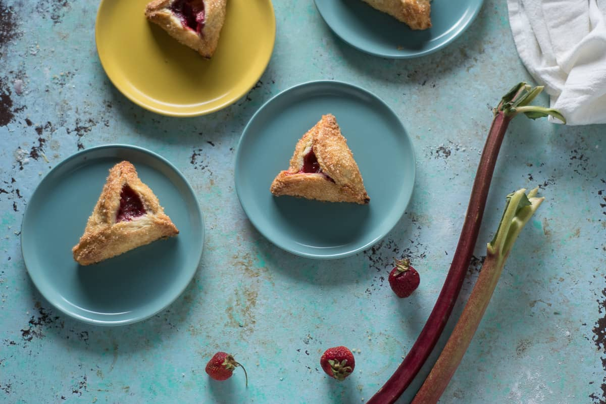 Strawberry Rhubarb Turnovers. From Blossom to Stem | www.blossomtostem.net
