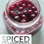 Spiced Cranberries