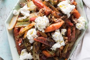 Caramelized Carrots with Fennel and Ricotta from Blossom to Stem | www.blossomtostem.net