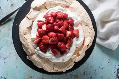 Strawberry Pavlova with Mezcal and Lime from Blossom to Stem | www.blossomtostem.net