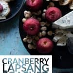 Cranberry Lapsang Poached Apples