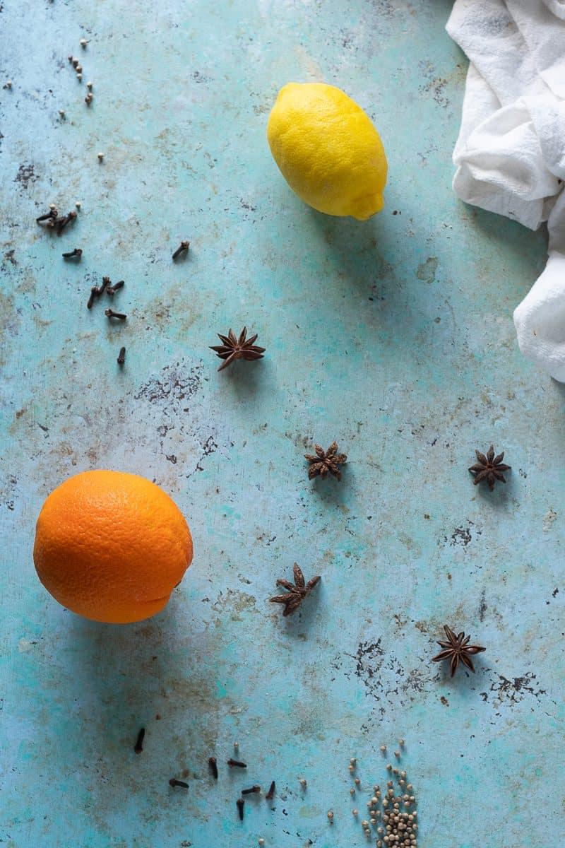 Orange, lemon, and spices