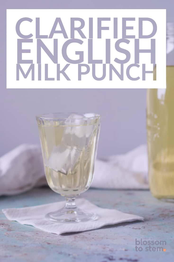 Clarified English Milk Punch