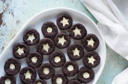 Citrus Clove Chocolate Sandwich Cookies