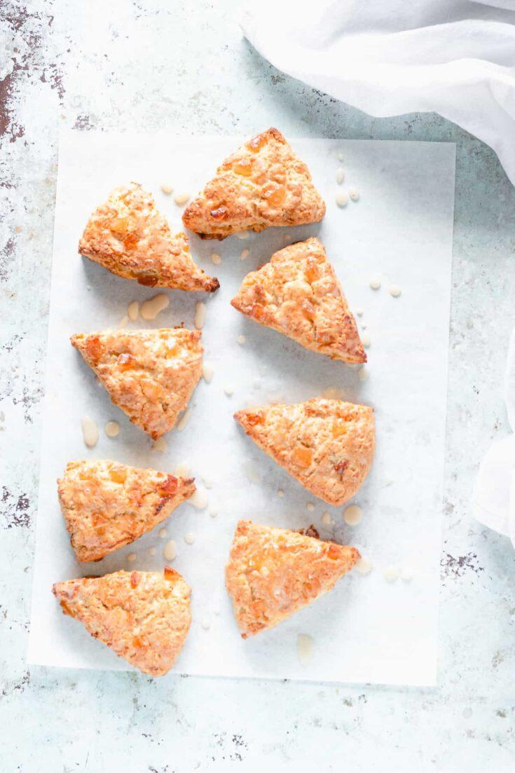 Orange Ginger Scones with Creme Fraiche Icing