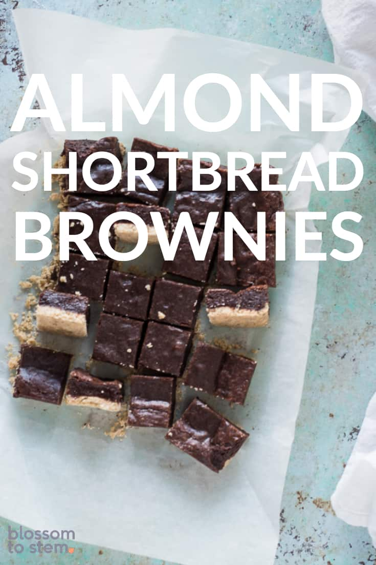 Almond Shortbread Brownies