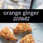 Orange Ginger Scones