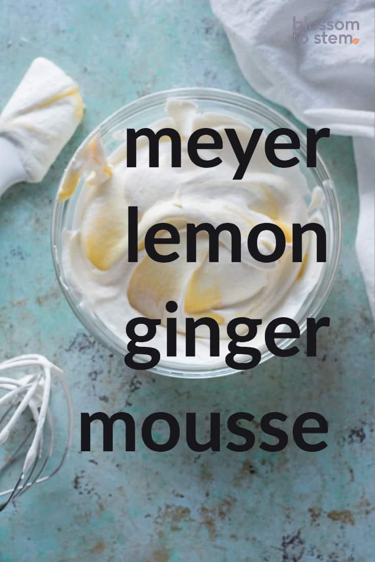 Meyer Lemon Ginger Mousse