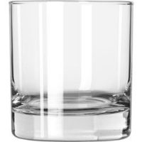 Set of 6 Libbey 916CD Heavy Base Rocks Glass, 8 ounce, w/ Signature Party Picks