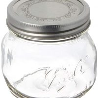 Ball Collection Elite Pint (16-oz.) Wide Mouth Jars, Clear, 1-Pack of 4