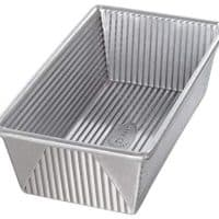 USA Pan 1145LF Bakeware Aluminized Steel 1 1/4 Pound Loaf Pan Medium, Silver