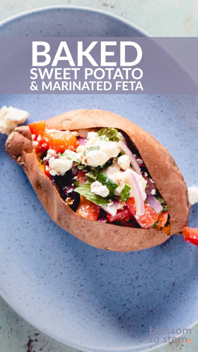 Baked Sweet Potato & Marinated Feta