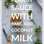 Peanut Sauce with Basil and Coconut Milk
