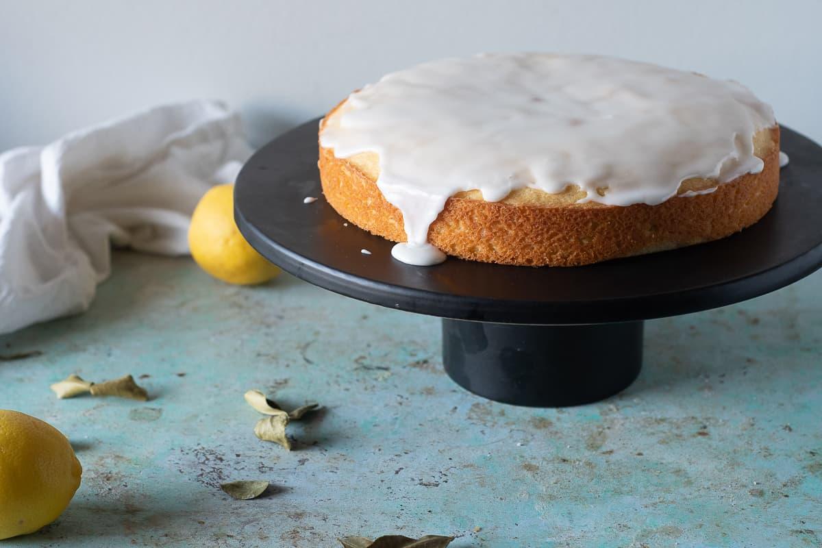 Makrut Lime Leaf Cake with Lemon and a Lime Glaze