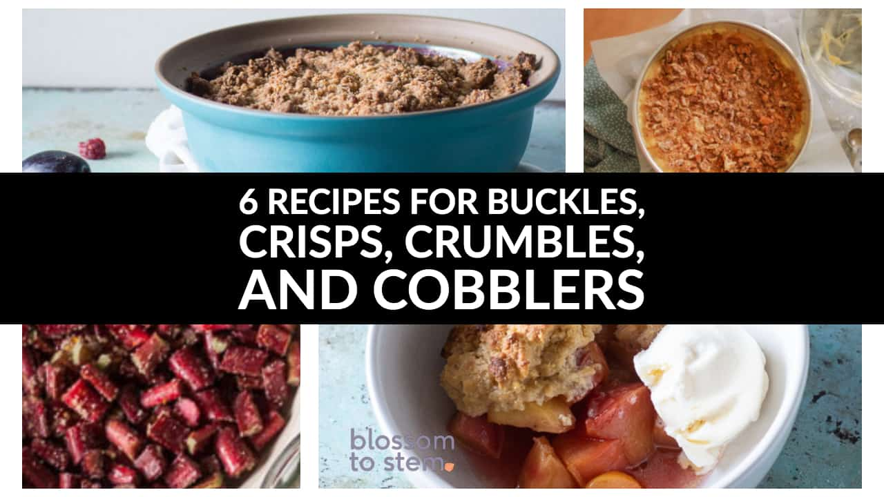 6 Recipes for buckles, crisps, crumbles, and cobblers