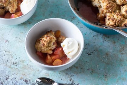 Peach Cobbler with Cornmeal
