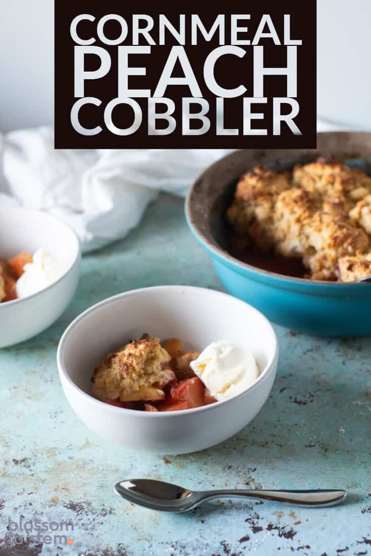 Cornmeal Peach Cobbler