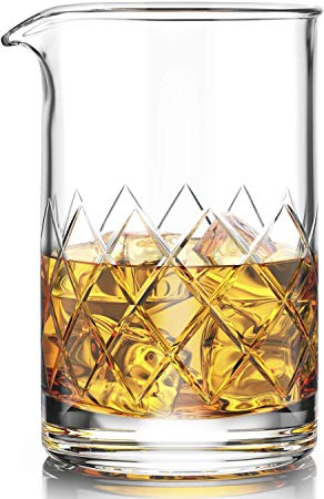 Premium Cocktail Mixing Glass - Seamless Lead-Free Crystal
