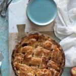 Apple pie, baked