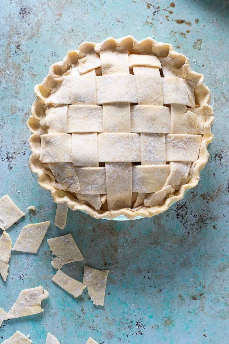 Unbaked apple pie