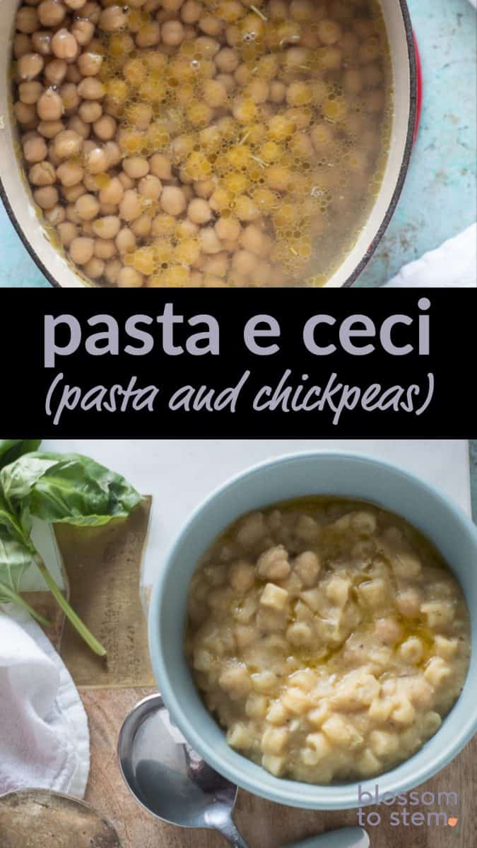 Pasta e Ceci (Pasta and Chickpeas)