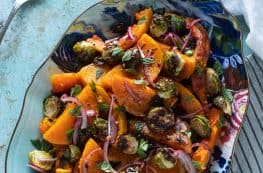 Butternut Squash and Brussels Sprout Agrodolce