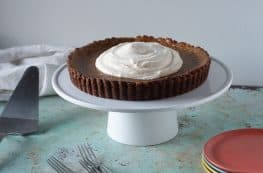 Caramel Pumpkin Tart with Gingersnap Crust