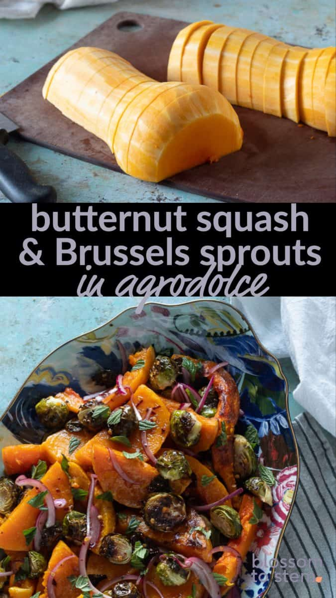 butternut squash & brussels sprouts in agrodolce