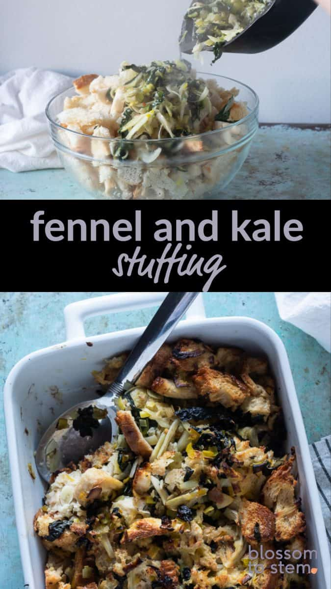 Fennel and Kale Stuffing