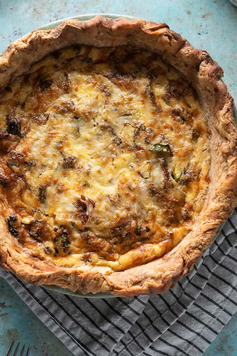 Quiche with Bacon and Brussels Sprouts