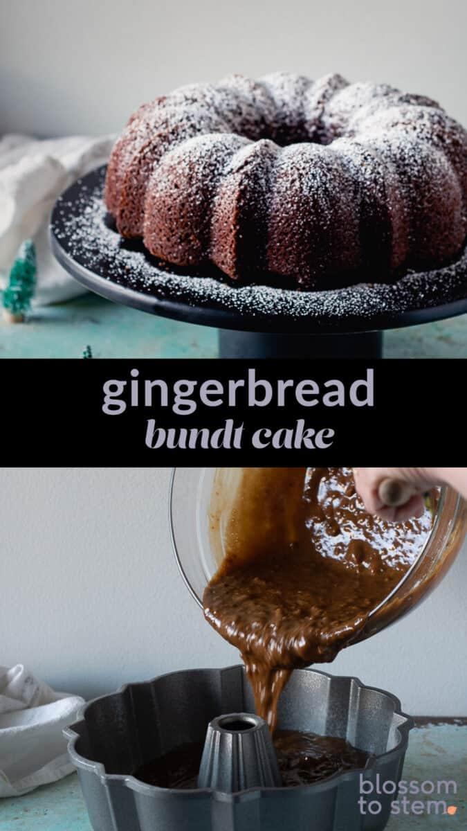 Gingerbread Bundt Cake collage