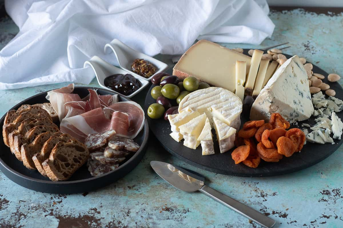 Cheese and charcuterie board