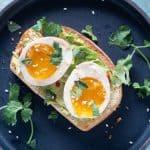 Ramen Eggs on Avocado Toast