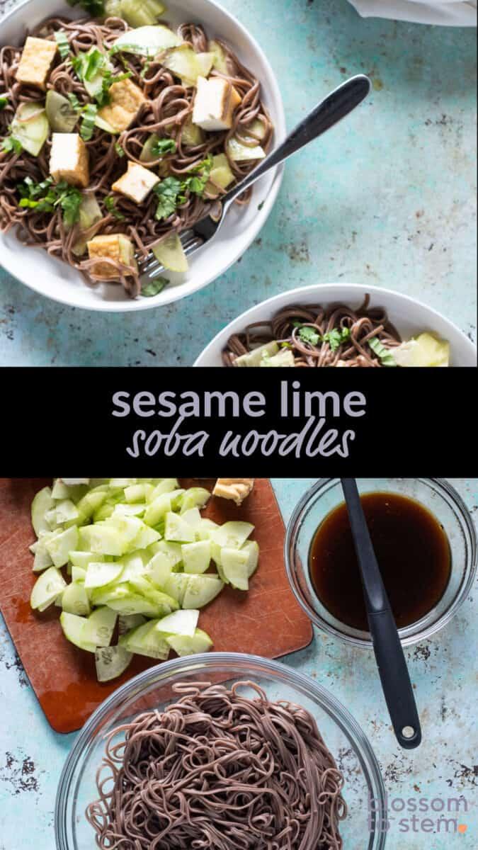 Sesame Lime Soba Noodles