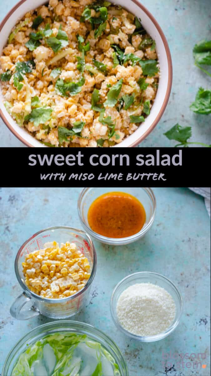Sweet Corn Salad with Miso Lime Butter