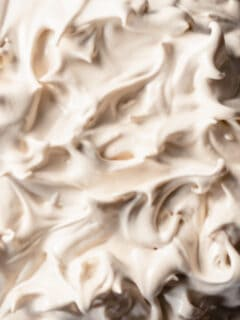 Italian Meringue, close up