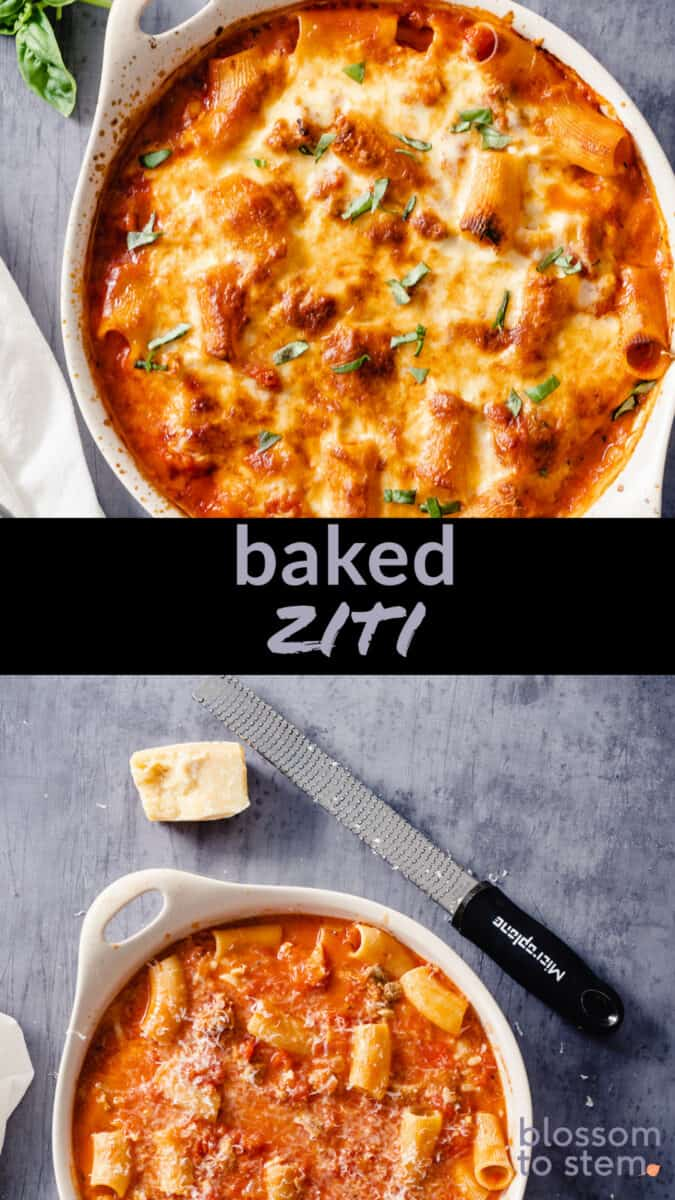 Baked Ziti Collage