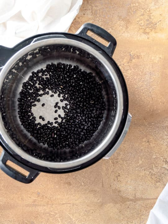 Black beans in an instant pot